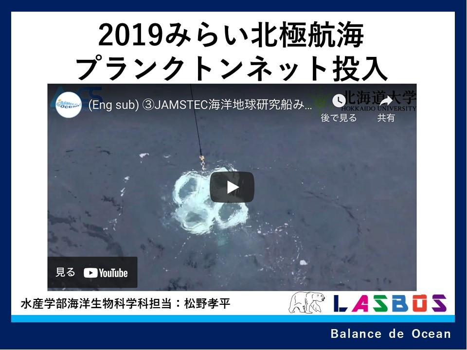 2019みらい北極航海プランクトンネット投入