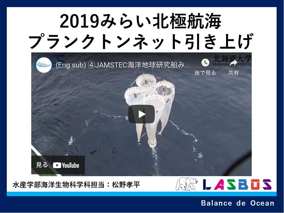 2019みらい北極航海プランクトンネット引き上げ