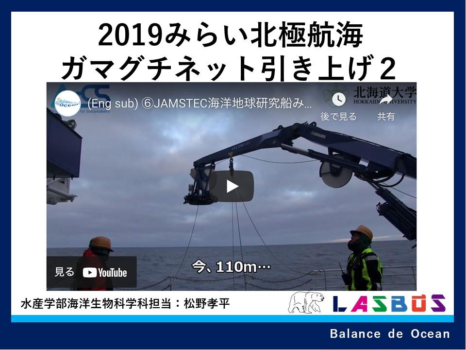 2019みらい北極航海ガマグチネット引き上げ2