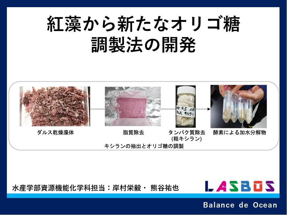 低利用資源・紅藻から新たなオリゴ糖調製法の開発