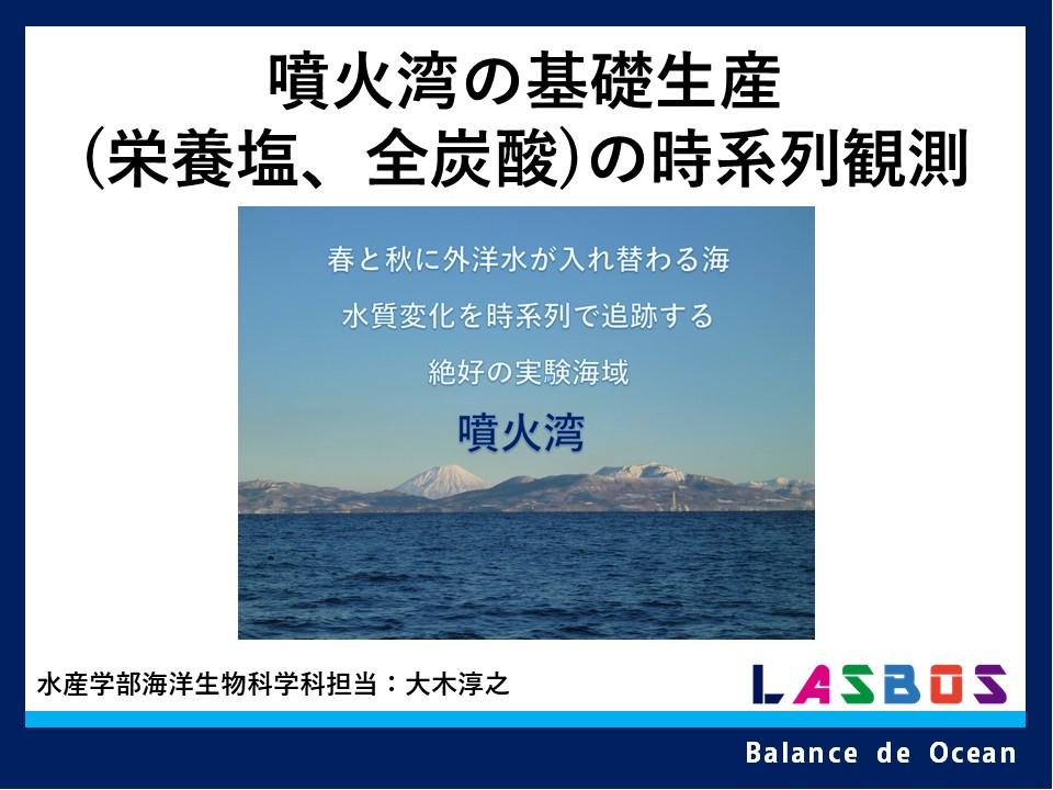 噴火湾の基礎生産(栄養塩、全炭酸)の時系列観測