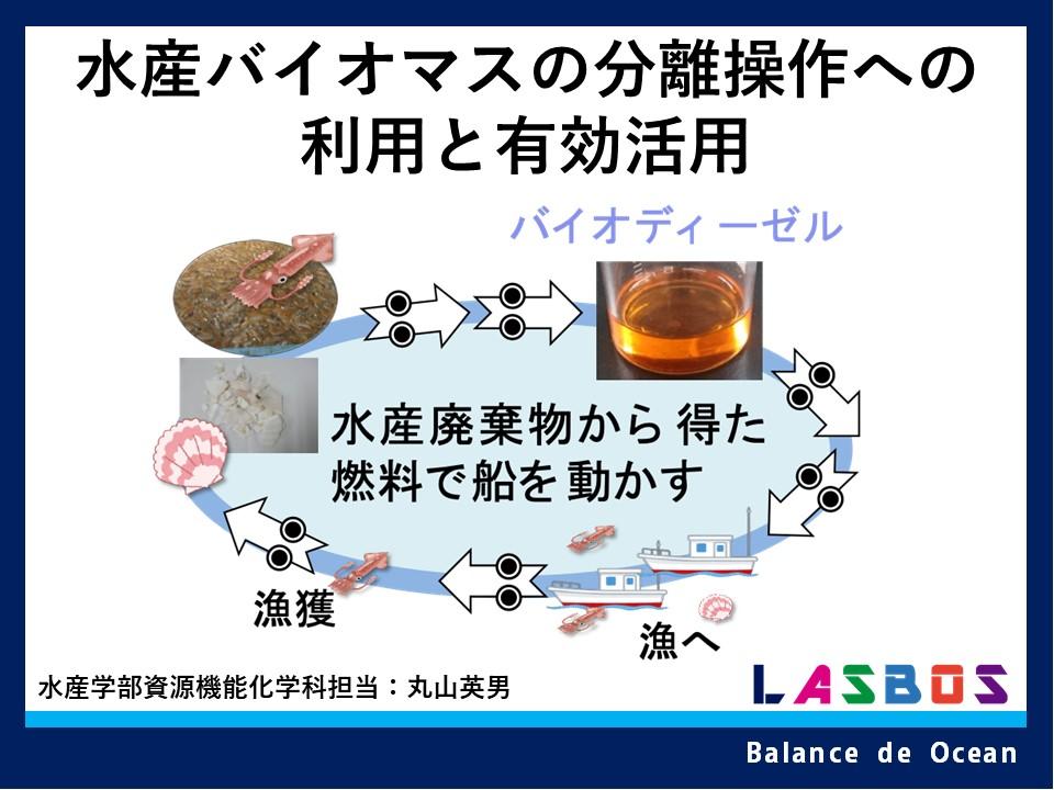 水産バイオマスの分離操作への利用と有効活用