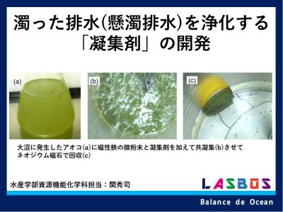濁った排水(懸濁排水)を浄化する「凝集剤」の開発