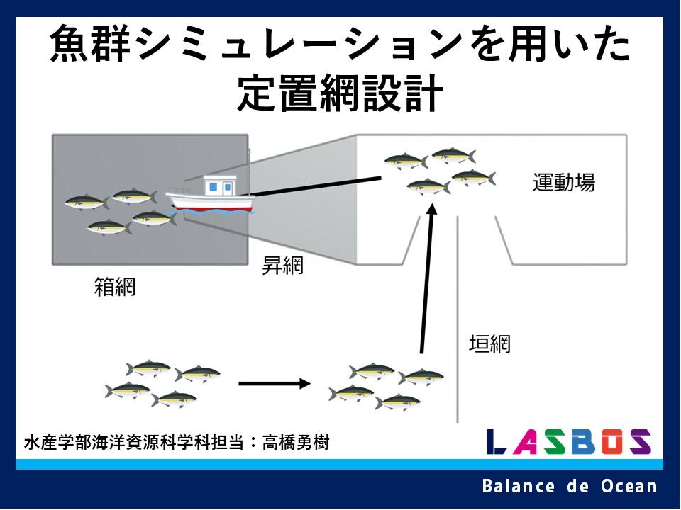 魚群シミュレーションを用いた定置網設計